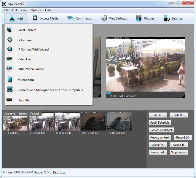 Use Webcam as Security Camera