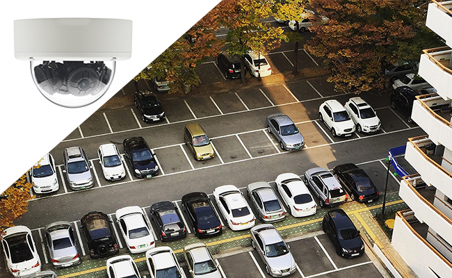 Dome Surveillance Camera for Parking Lot
