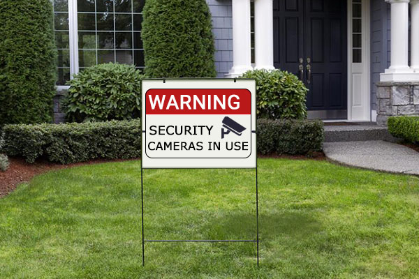 Fake Security Signs