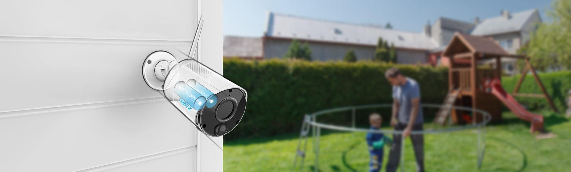 Kabellose Überwachungskamera mit Akku