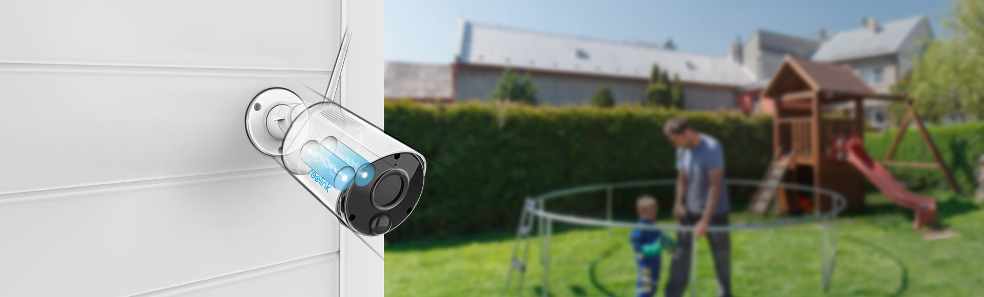 Argus Eco Wire-Free Security Camera with Rechargeable Battery