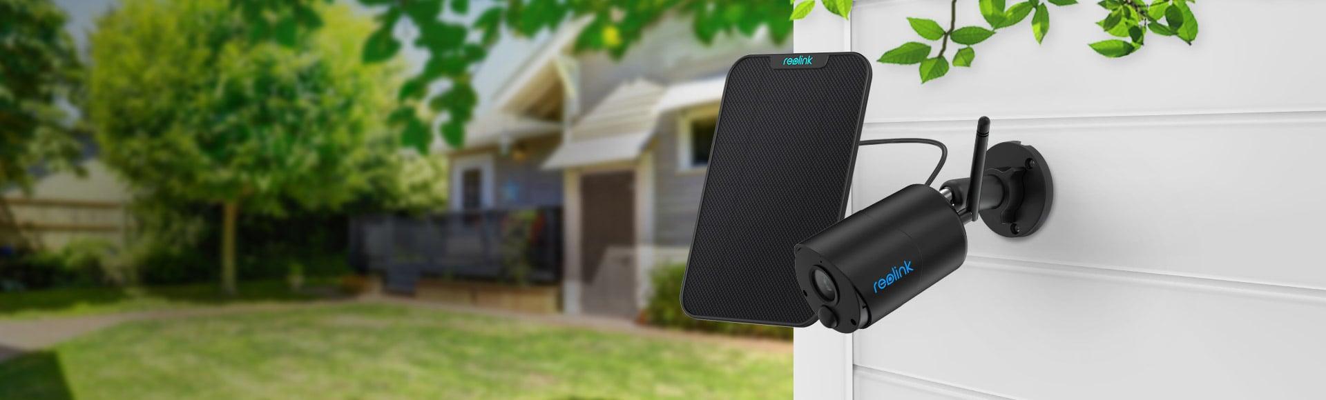Kabellose WLAN-Kamera mit Solarpanel für Outdoor