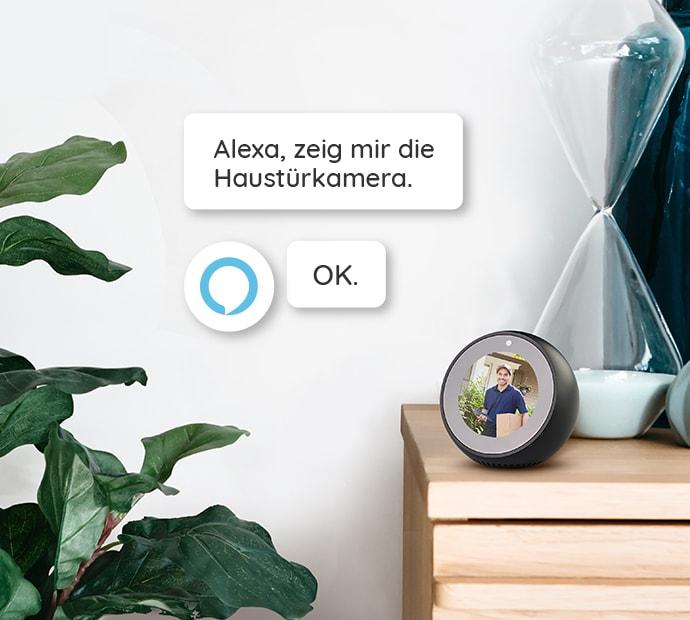 Sicherheitskamera mit Alexa