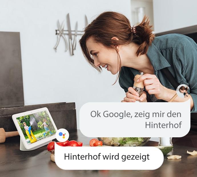 Sicherheitskamera mit Google Assistant