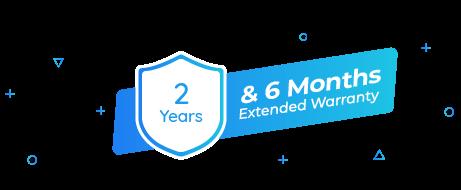 2-Year Warranty & Extra 6-Month Warranty