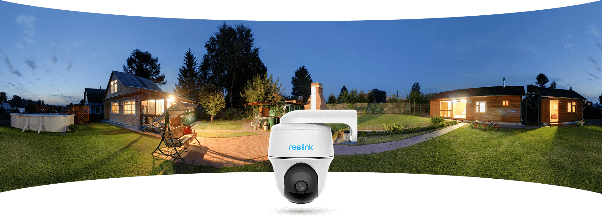 Wireless Pan Tilt Battery Operated Outdoor Home Security Camera