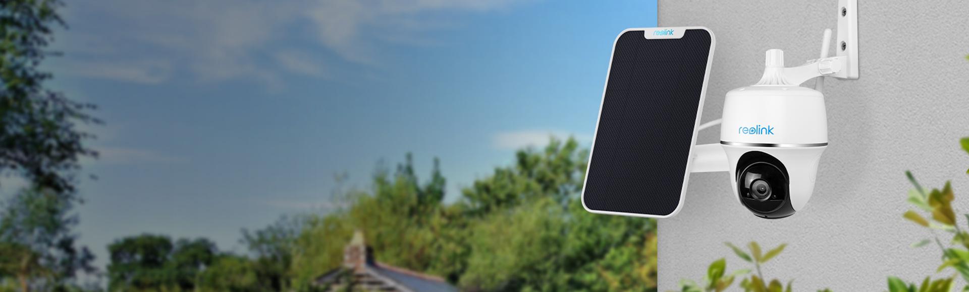 Kabellose IP Kamera mit Solarbetrieb, Schwenk- und Neigefunktion