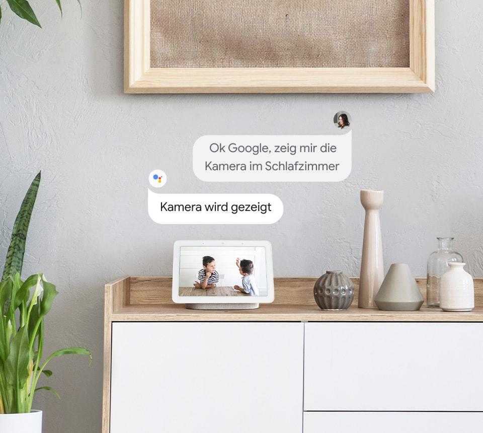 Überwachungskamera mit Google Assistant