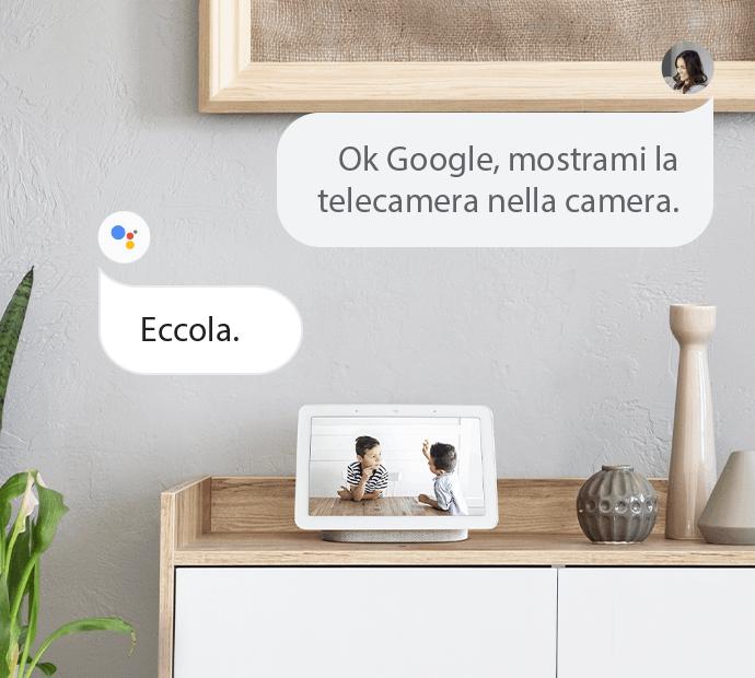 Telecamera di sicurezza per Assistente Google