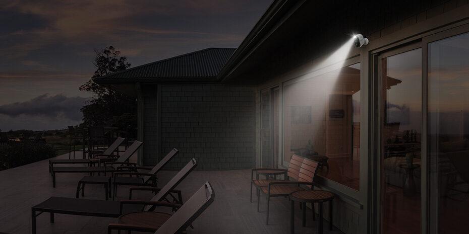 Kabellose Überwachungskamera mit Licht