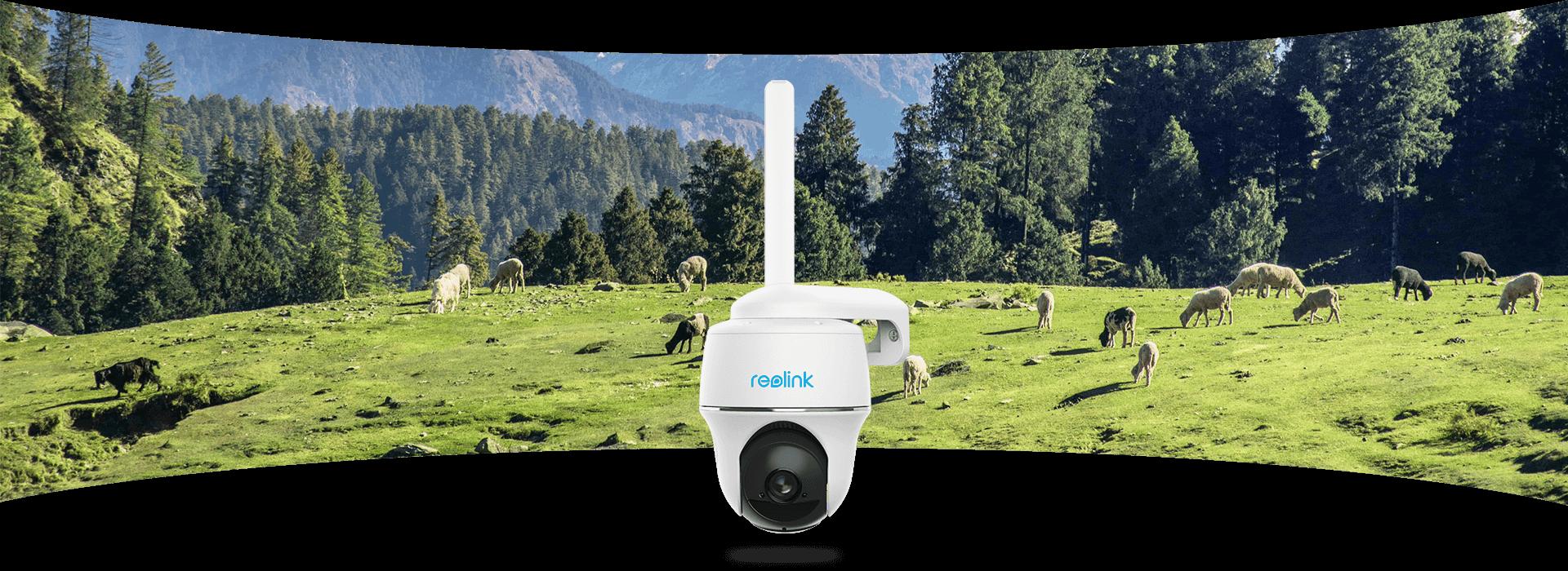 4G PT Outdoor-CCTV-Kamera mit ultraweitem Blickwinkel