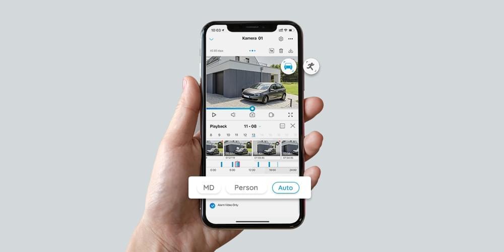 4K PoE AI-Kamera mit smarter Erkennung