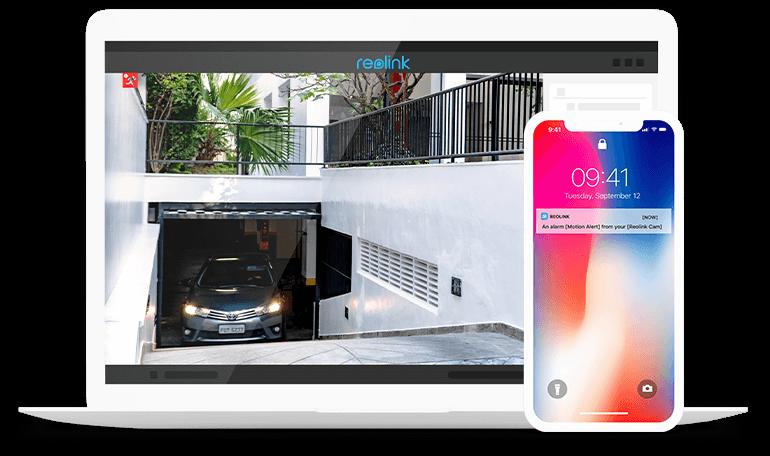 Überwachungskamera mit Personen- & Autoerkennung