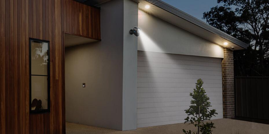 Outdoor Smart WLAN Akku-Überwachungskamera mit bewegungaktiviertem Licht