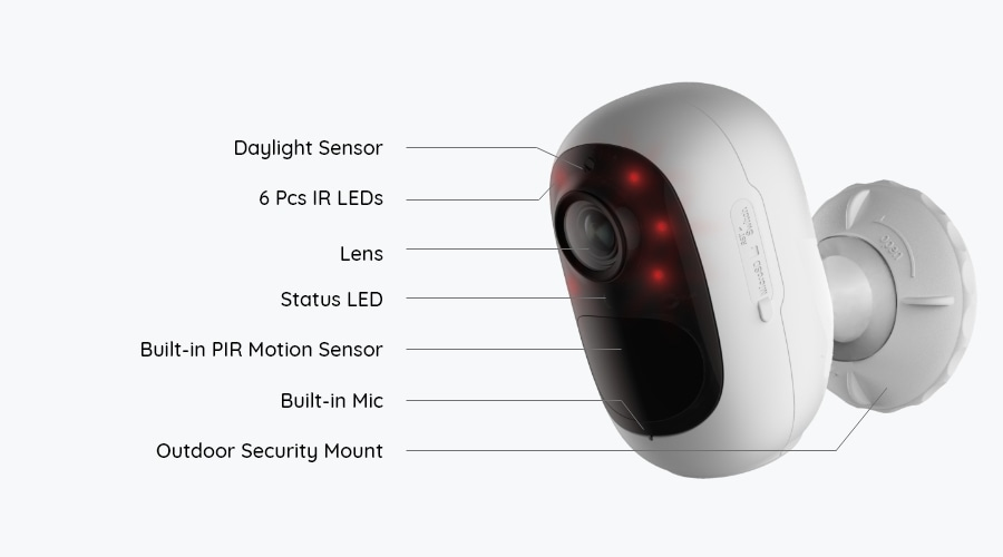 Argus Series Wire Free Battery Operated Security Camera