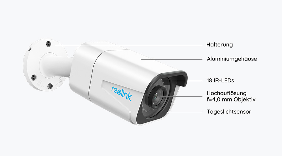 Reolink 8MP PoE IP Kamera - Grafik