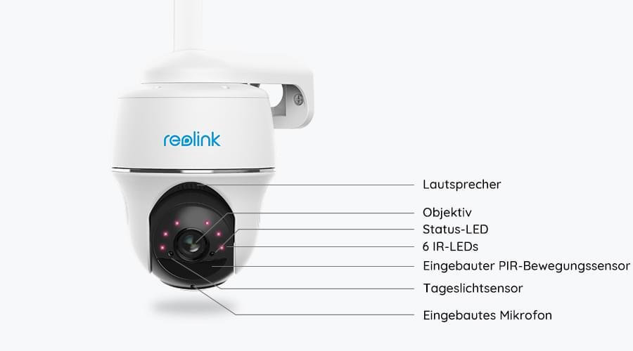 4G PT Überwachungskamera mit Akku- oder Solarbetrieb
