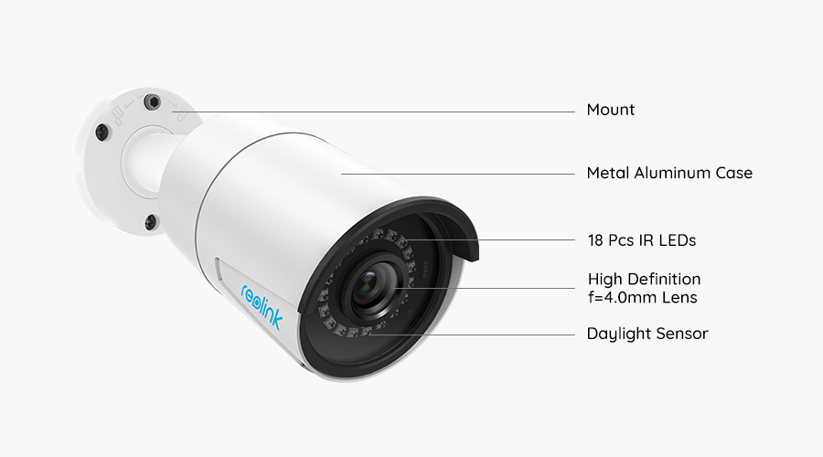 5MP/4MP PoE Outdoor Security Camera