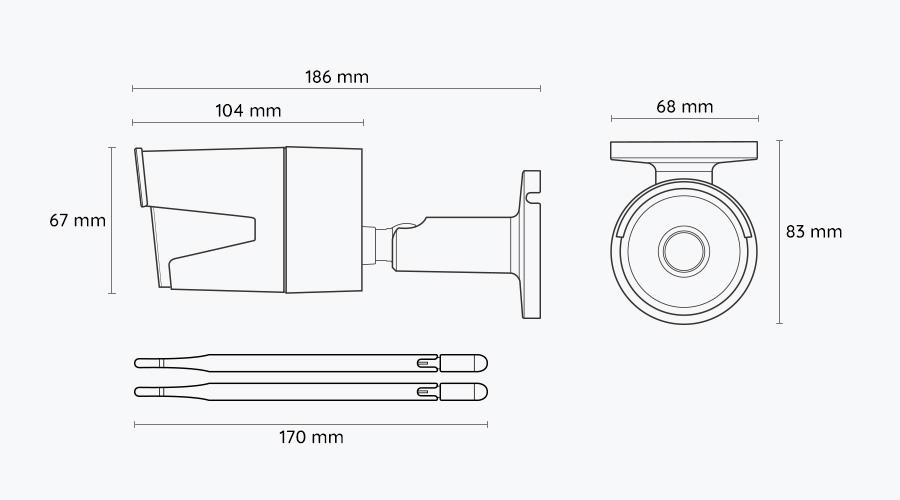 Reolink IP Kamera mit Dualband-WLAN - Dimension