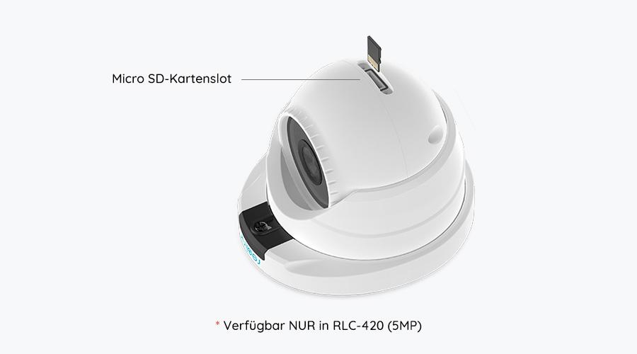 5MP Dome PoE IP Kamera mit Micro SD-Kartenslot