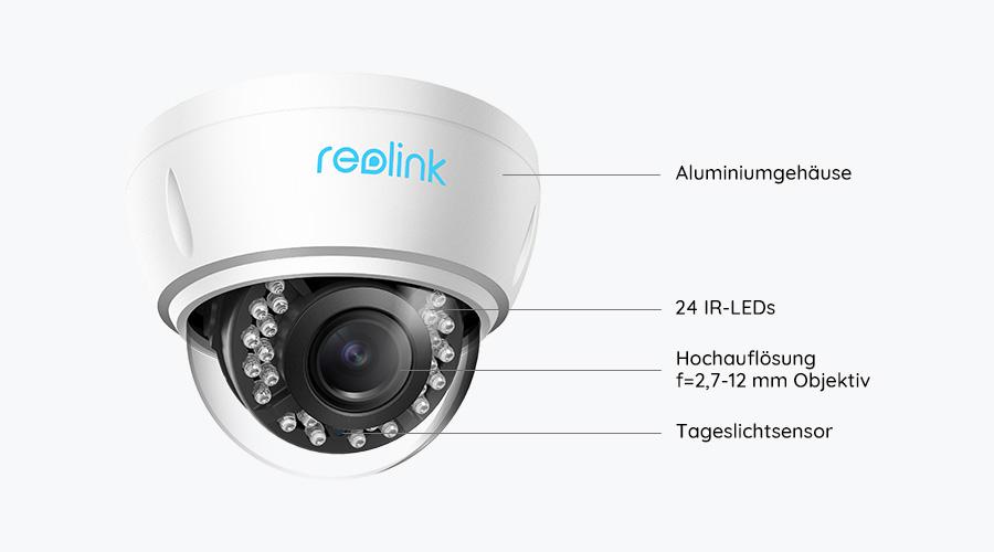 Reolink RLC-422 Dome PoE IP Kamera - Grafik