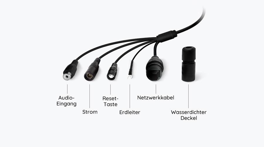 Reolink PoE IP Kamera Kabelanschluss