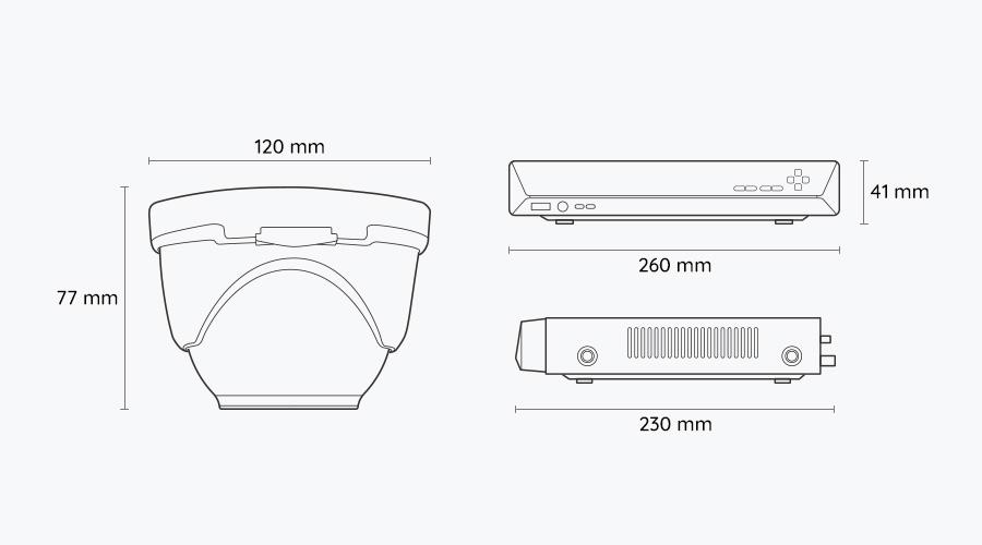 Reolink Dome PoE Kamerasystem - Dimension
