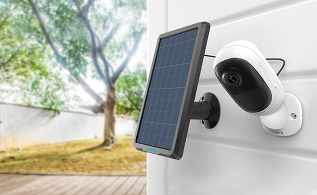 Solar Panel and Outdoor Home Camera