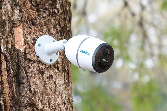 Überwachungskamera-Wohnwagen