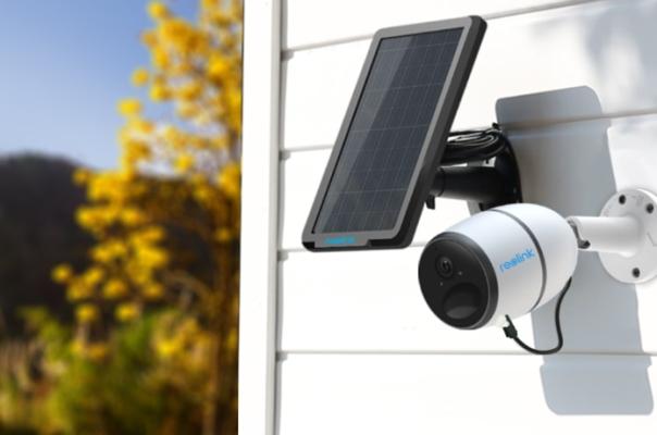 kabellose Kamera mit Solarpanel