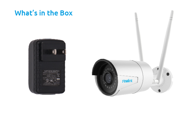 Box with Security Camera And Power Adapter