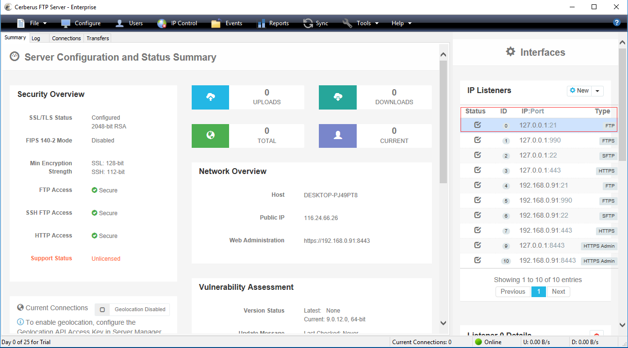 FTP Server IP Address