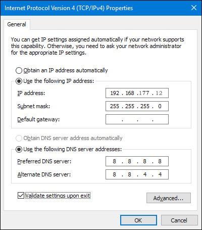 Change Computer IP Address