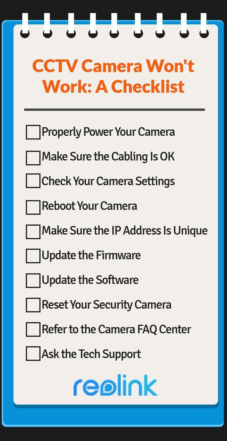 CCTV Camera Not Working Fixes